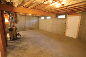 before with multiple windows and easy egress this basement was