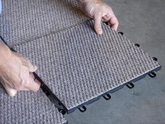 Basement Carpeting Tbf Carpeted Basement Floor Tiles