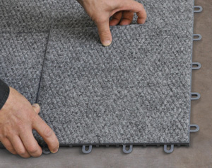 Waterproof basement carpet tiles