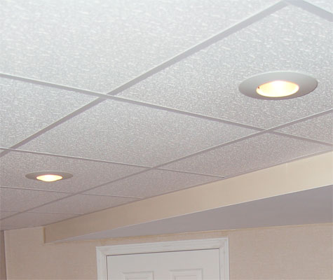 Basement ceiling tiles drop ceilings for Drop ceiling images