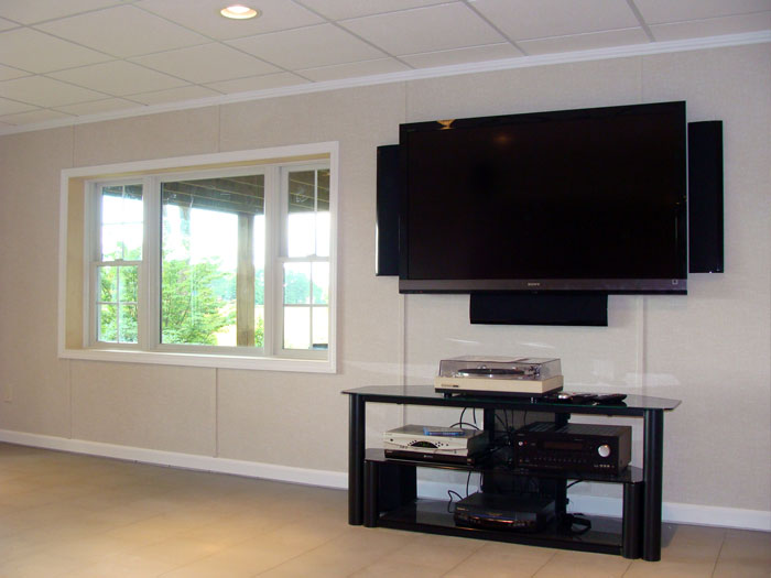 quality basement finishing products installed by certified basement