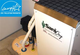 Our high-performance, Energy Star SaniDry™ dehumidifier