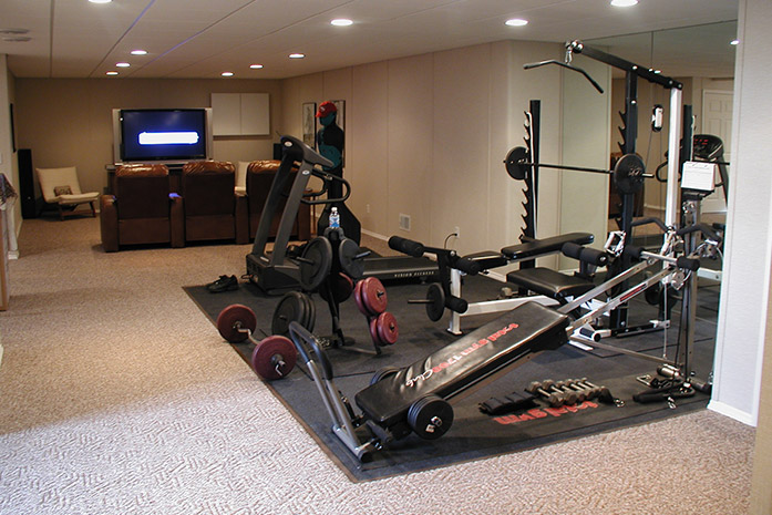 Finished Basement Design Ideas simple finished basement design ideas Our Basement Finishing Systems Make It Easy To Get A Home Gym