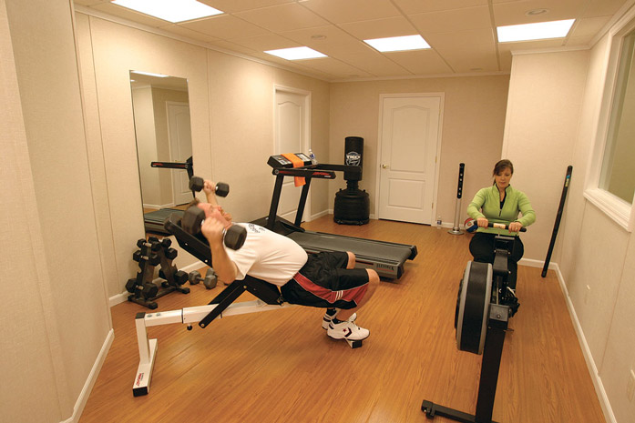 Home Gym Design: Home Gym Ideas: Designing A Home Gym In Your Finished Basement