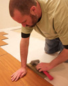 A tight click-fit allows MillCreek flooring to serve as a vapor barrier.