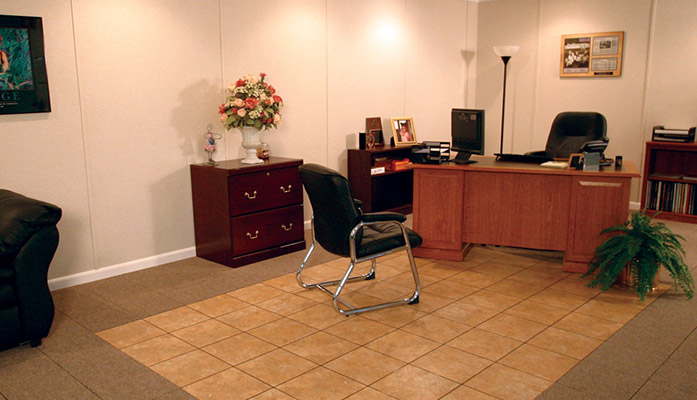 a finished basement can be easily converted into a home office basement home office