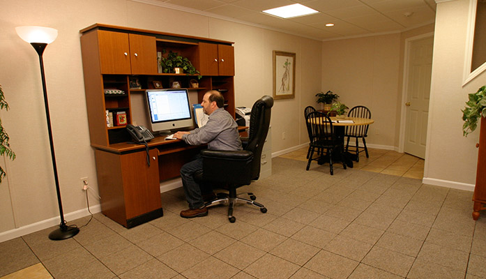 Basement Home Office Ideas