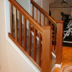 A basement staircase