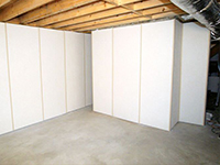 basement wall finishing system by total basement finishing total